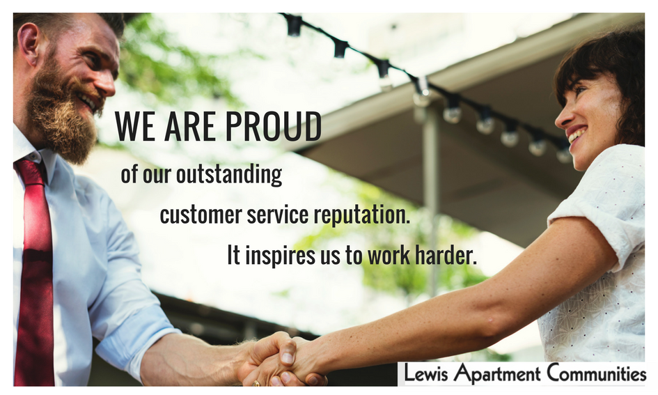 we are proud of our outstanding customer service reputation. It inspires us to work harder.