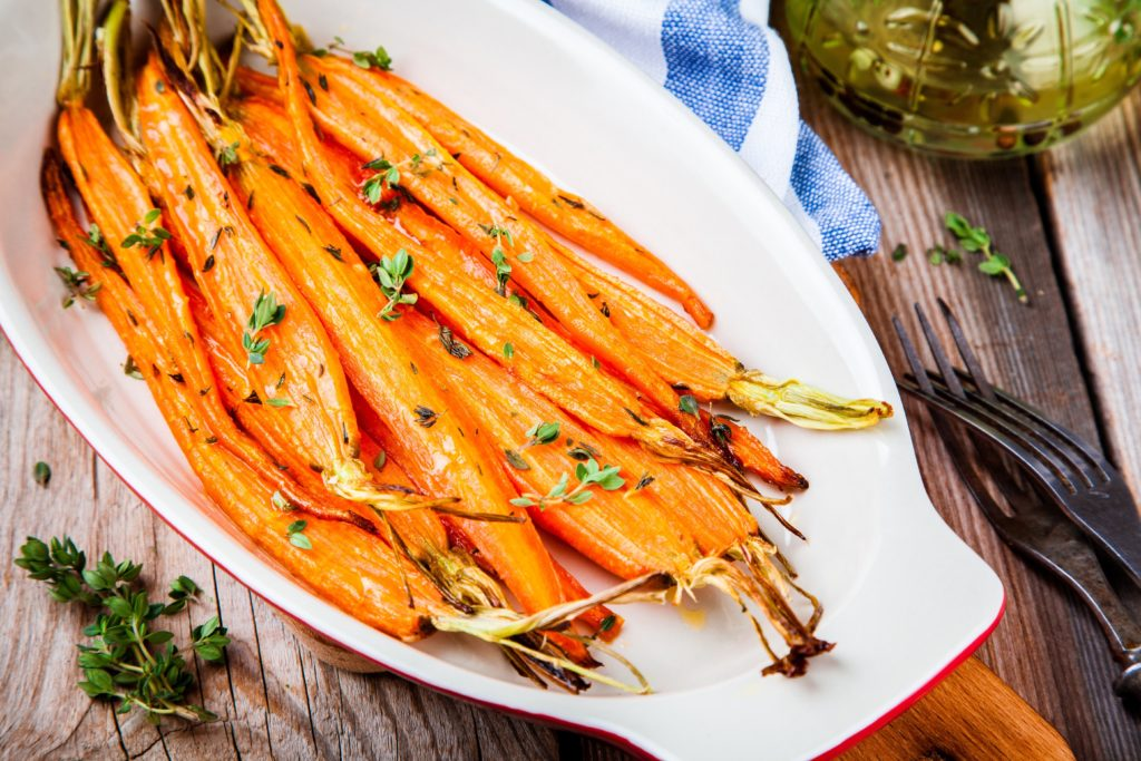 roasted carrots, glazed carrots, carrots, side dish