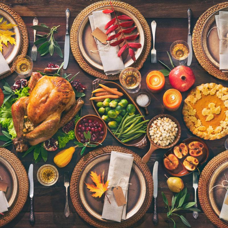 thanksgiving, thanksgiving dinner, place setting, family dinner, turkey, pumpkin pie
