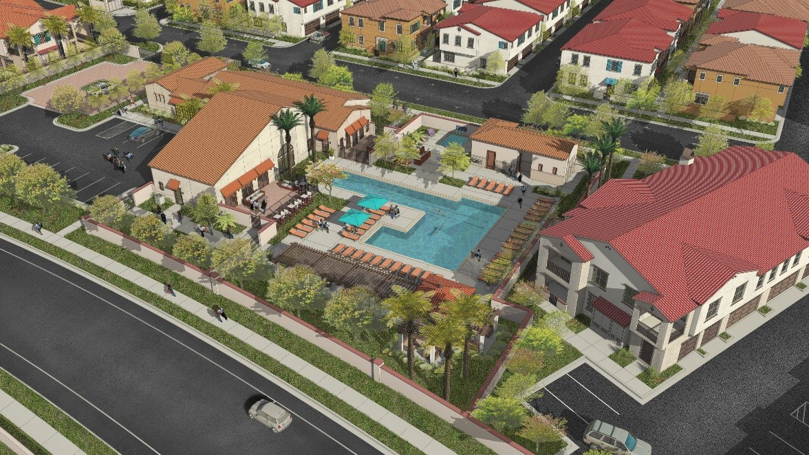 Rendering of Harvest in Tracy Apartments future clubhouse