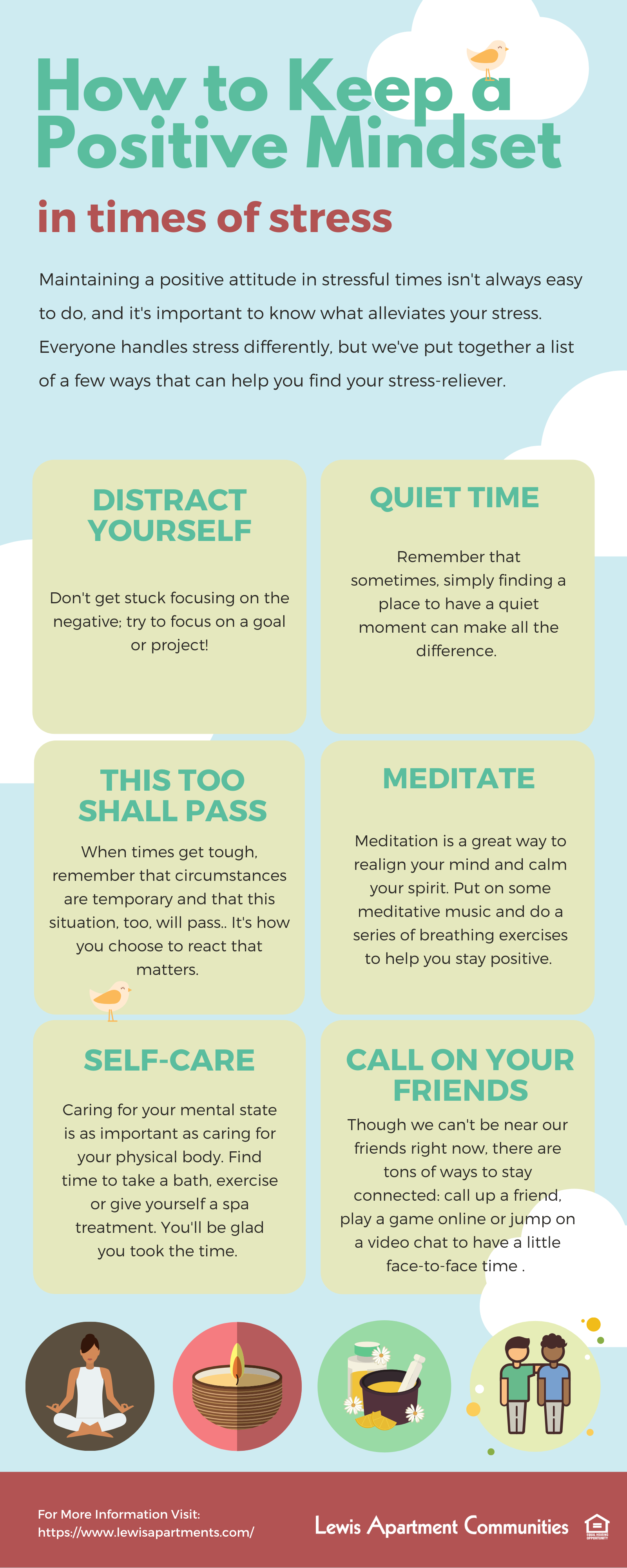 Infographic about staying positive